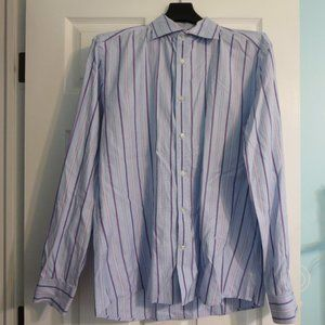 H&M Blue Lavender Striped SLim Fit Dress Shirt